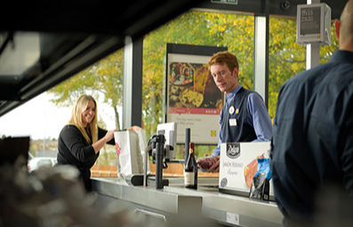 Lidl checkout and staff