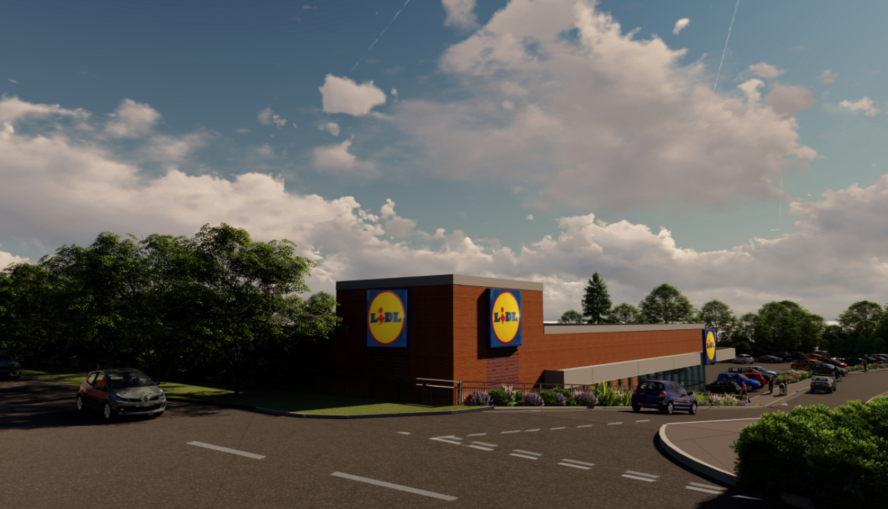 3D visual of Lidl Store